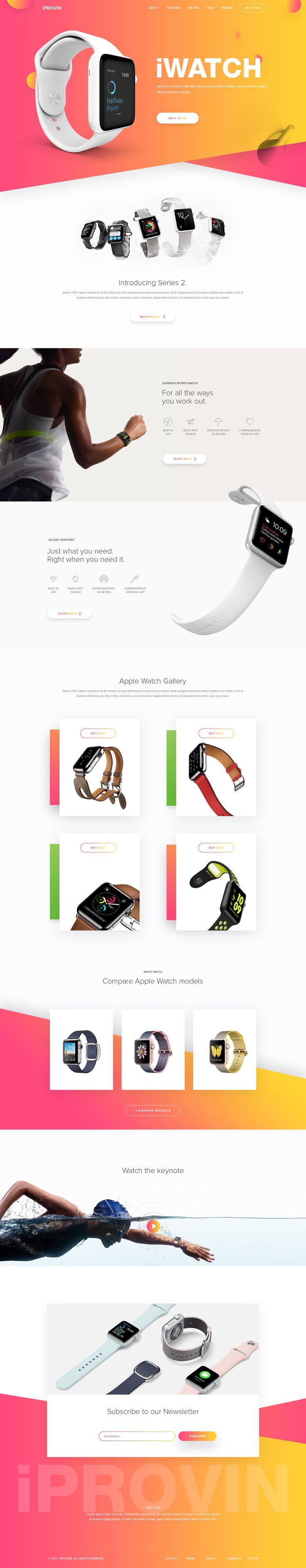 Iwatch landing page design