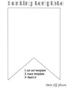 Bunting template for banner