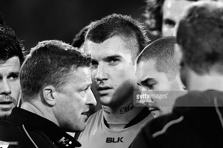 Dustin Martin of the Tigers is pictured during the three quarter time breack during the round 19 AFL match between the Adelaide Crows and Richmond Tigers at Adelaide Oval on August 7, 2015 in Adelaide, Australia.