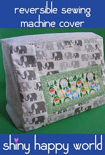Reversible Sewing Machine Cover. Full tutorial in PDF download.