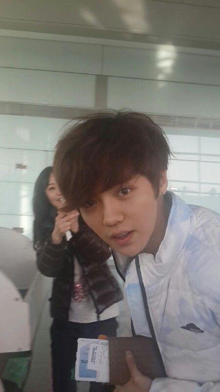 luhan at beijing airport 322014 without makeup lu han