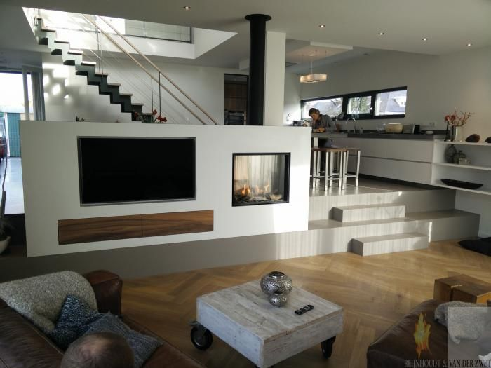 10 images about moderne inbouw haard on pinterest modern fireplaces models and tvs - Deco moderne open haard ...