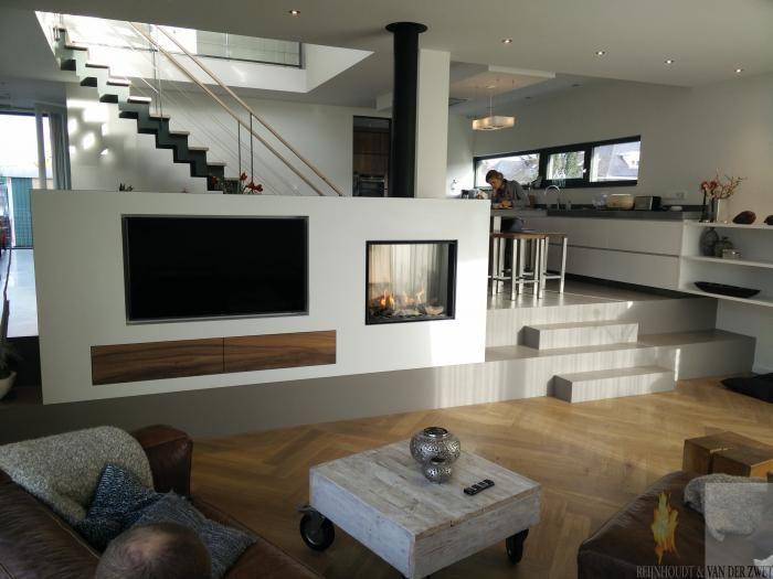 10 images about moderne inbouw haard on pinterest modern fireplaces models and tvs - Deco moderne open haard ...