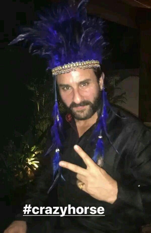 Bollywood actor Saif Ali Khan at Amrita arora birthday bash