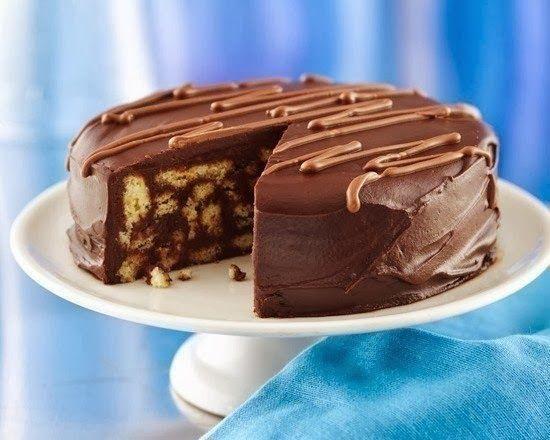 шеф-повар Одноклассники: Шоколадный торт из печенья
