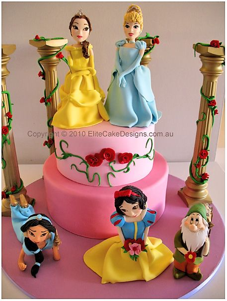 Birthday Cake Princess Children Cakes