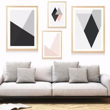 Scandinavian Geometric Patterns Canvas Art Print Painting Poster Wall Pictures For Living Room Decor Home Decorative No Frame(China (Mainland))