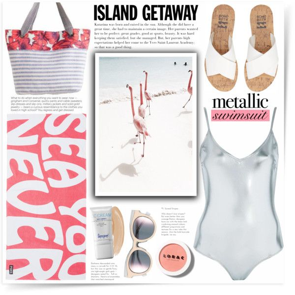 Sea You Never by katrinaalice on Polyvore featuring mode, Topshop, Billabong, Maaji, Le Specs, Supergoop!, LORAC, Victoria's Secret and See by Chloé