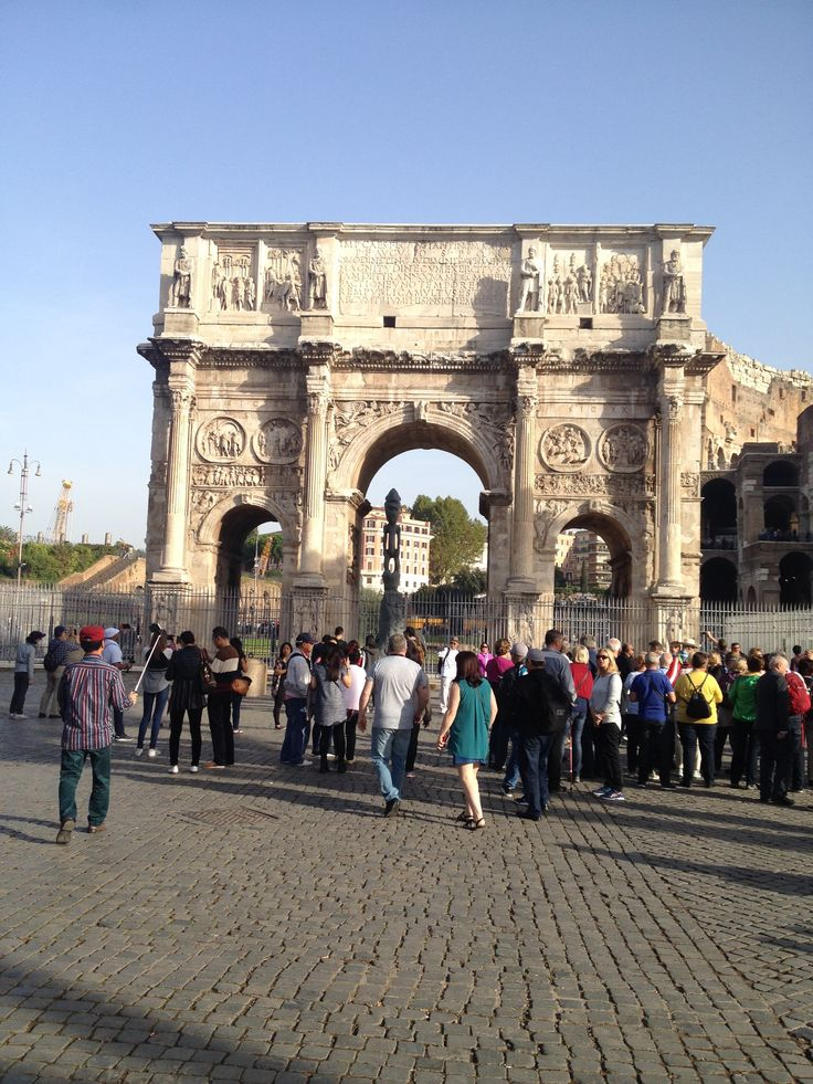 Arch of Constantine is a triumphal arch in Rome, situated between the Colosseum and the Palatine hill.
