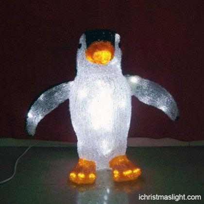 Acrylic LED decor penguin christmas lights