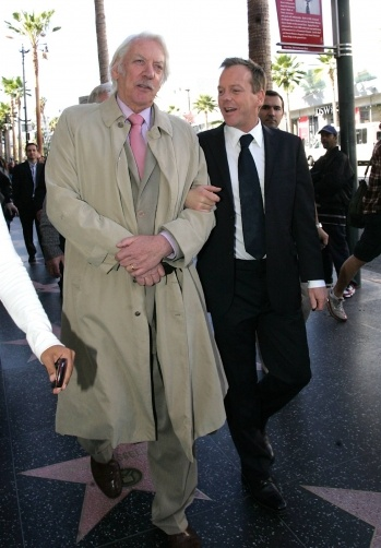 Actor Donald Sutherland and actor son, Keifer Sutherland.