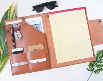 Personalized Leather Portfolio Personalized Business Folio