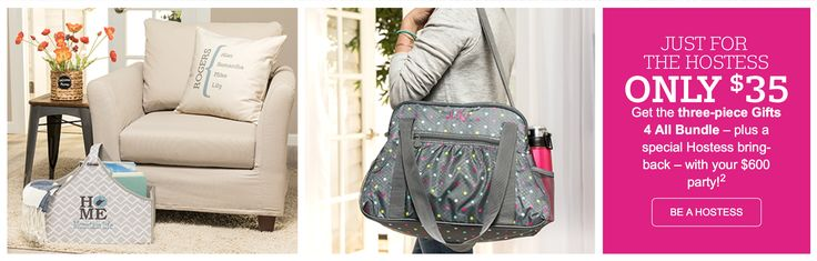 Host a Thirty-One party this May and receive FOUR items in the excellent Hostess Special for only $35 when you have a $600 Party! I can help you get this awesome Hostess special.