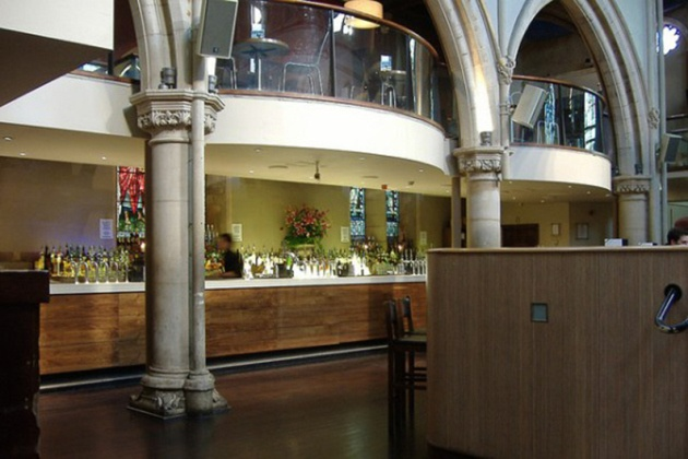 Historic Church Becomes Fashionable Modern Bar in Nottingham -the Pitcher and Piano.