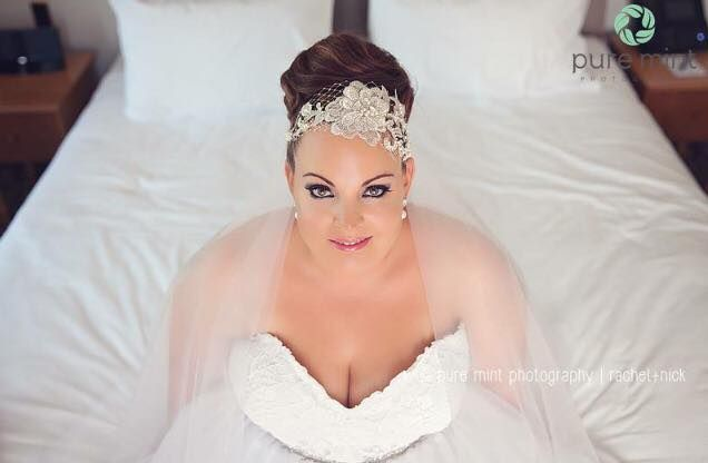 Another absolutely beautiful SoBridelicious bride - find the amazing hair adornments on Etsy