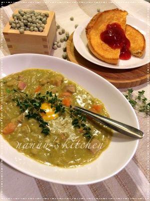北欧フィンランド♥栄養満点のえんどう豆のスープ レシピ・作り方 by ...