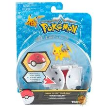 Pokemon Toy Throw 'N' Pop Pokeball with Figure - Pikachu & Poke Ball