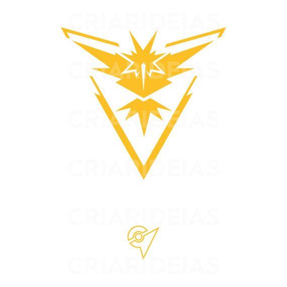 Badge Team Instinct, Pokemon Go, Badge, SVG, EPS, Ai, PNG, High Quality, Vector 300 dpi, Cameo V2 V3, Cricut, Silhouette, Cutting machine