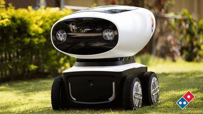 自動運転ロボット「DRU」を使った無人ピザ宅配をドミノ・ピザが開始 - GIGAZINE