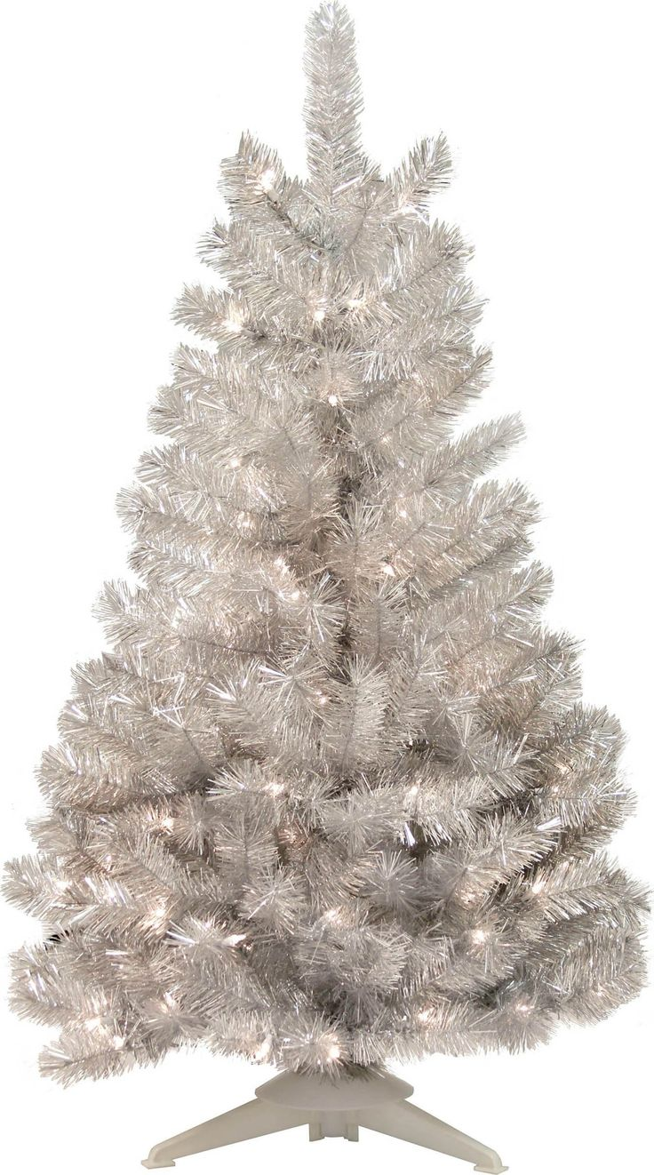 General Foam Plastics-Mountain King Prelit Artificial Christmas Tree- Silver 4 Foot