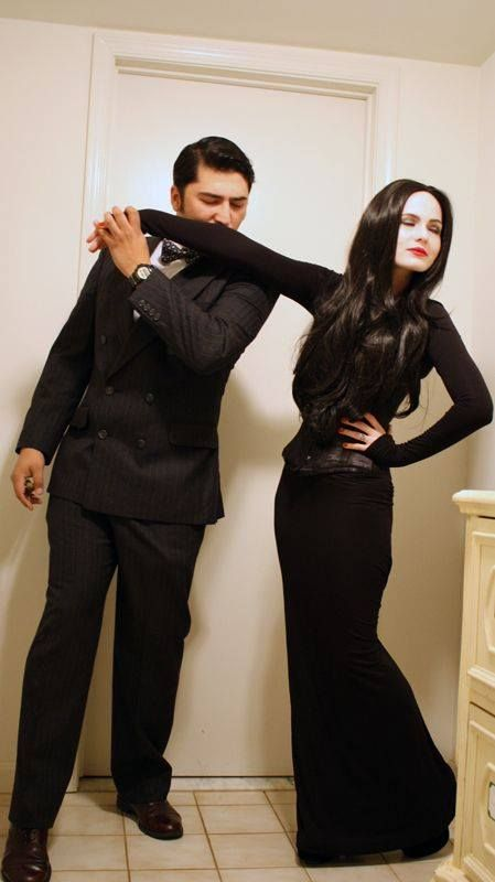 Nice Couples costume idea. Gomez and Morticia Addams