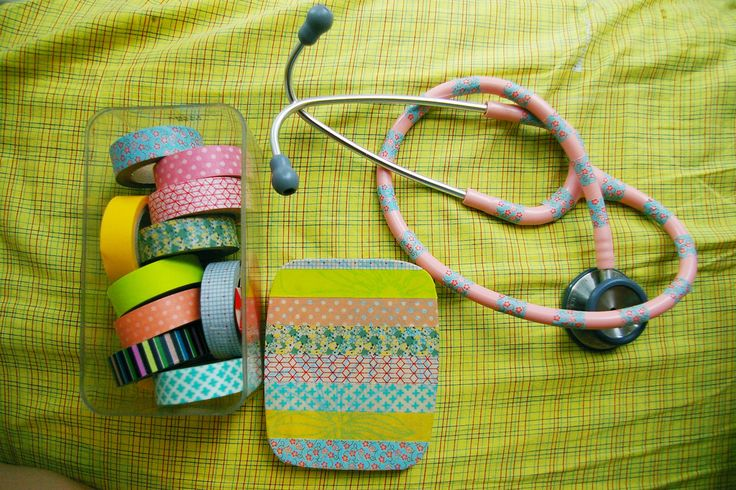 Super cute personalized stethoscope, DIY with washi tape