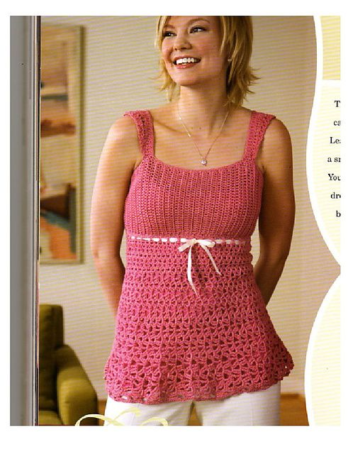 Crochet Amigurumi Whale Pattern : Baby-doll Top crochet pattern by Mary Jane Hall, sizes ...
