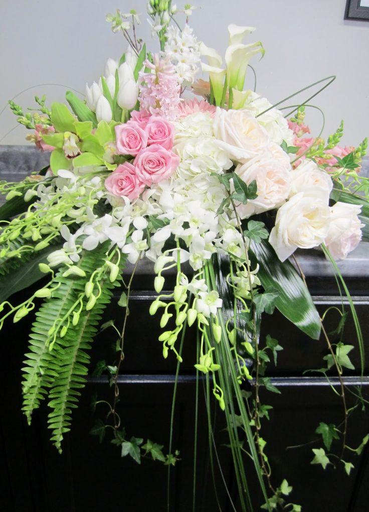 Pink casket spray #sympathyflowers | Funerals by Flowers ...  |Casket Flowers
