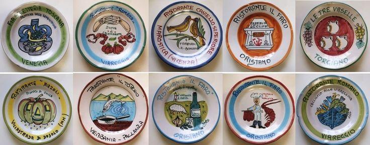 Piatti del buon ricordo - anni 80 / 90 - lotto 10 piatti 24B - Piatti decorativi Ceramica Solimene Vietri - Italia di Piattidelbuonricordo su Etsy