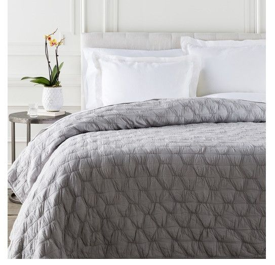 Monet Solid Grey Quilt