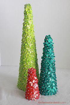Glitter Cardstock Trees