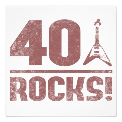 40th Birthday Rocks Invitation