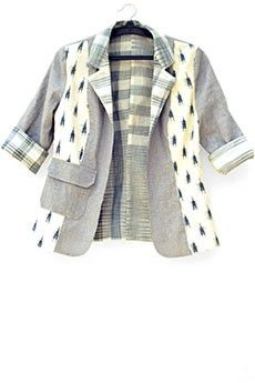 Paneled Linen Jacket #ItrbyKhataiPande