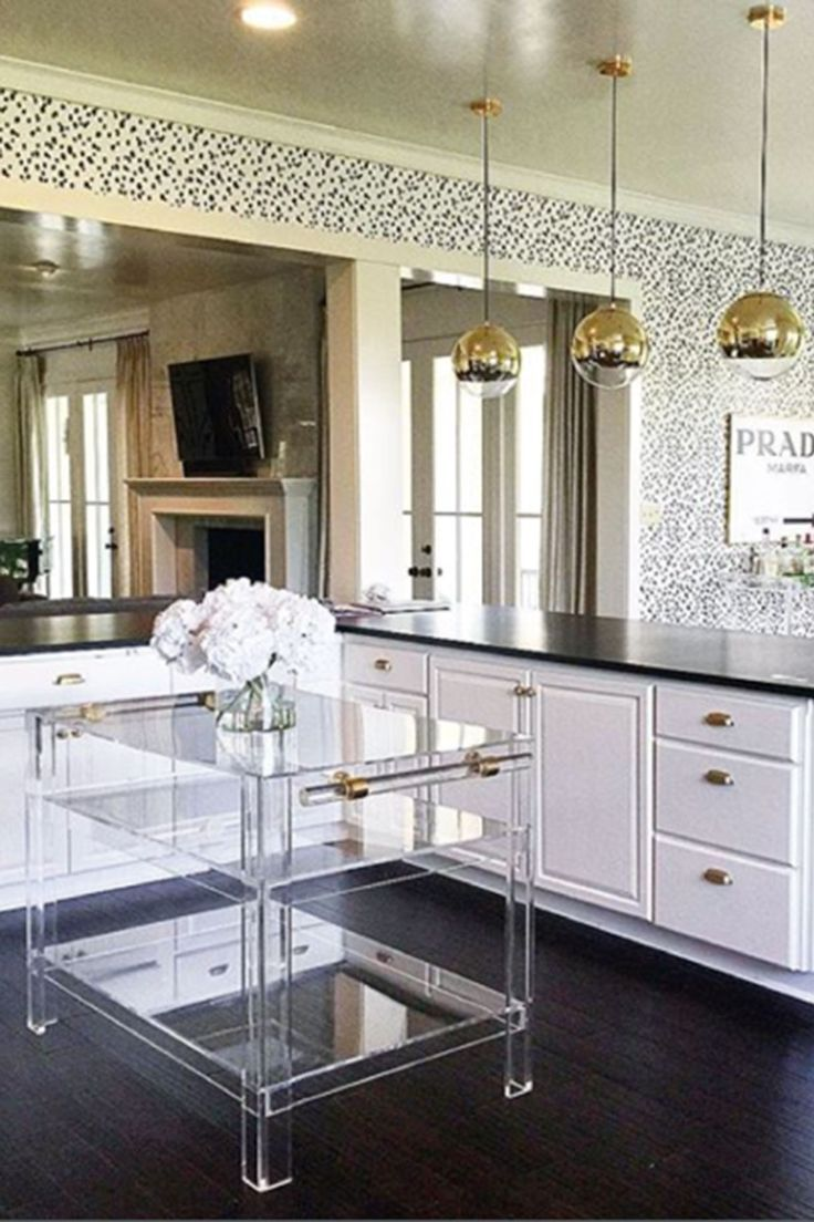 Find and enjoy ideas about Kitchen remodeling on termin(ART)ors.com. | See more ideas about Kitchen cabinets, Smart kitchen and Small kitchens.  The picture we use as a PIN here is from: http://www.katiekime.com/products/custom-lucite-island