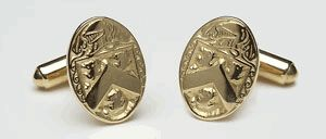 Silver Coat of Arms / Family Crest Cuff Links