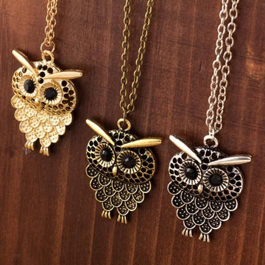 Owl Necklace - Square Berry Co