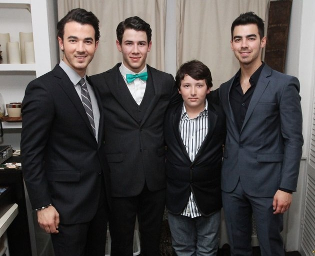 """Kevin, Nick, Joe, and Frankie Jonas Before you feel too bad for the kid deemed the """"Bonus Jonas"""" (since he's the only sibling not in the group The Jonas Brothers), Frankie's not even 12 yet and already has more than 165,000 followers on Twitter. He'll be just fine.  Email"""