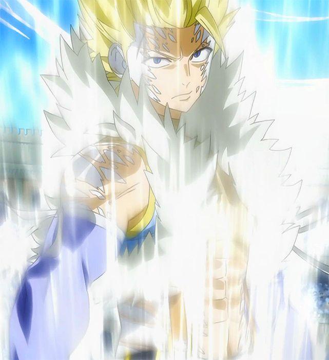 """Sting Youclif (スティング・ユークリフ, Sutingu Yûkurifu) est l'actuel maître de Saber Tooth, succédant à Jienma Orlando. Il est surnommé """"Le Dragon Blanc"""" à cause de sa magie de Chasseur de Dragon si particulière, la Magie du Chasseur de Dragon Blanc. Il fait partie des Dragons Jumeaux, avec Rog Chenny. Son partenaire Exceed est Lecter. Sting est un jeune homme mince de taille moyenne. Il a les cheveux courts et hérissés blonds. Ses yeux bleus foncés sont bridés, et au-dessus de l'œil ..."""