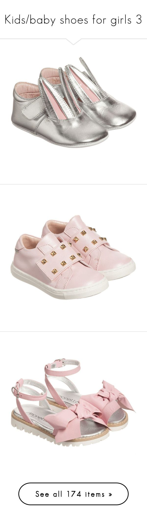 """""""Kids/baby shoes for girls 3"""" by julieselmer ❤ liked on Polyvore featuring light blue, girls, shoes, bunny, minna parikka, pink, white, dark blue, beige and brown"""