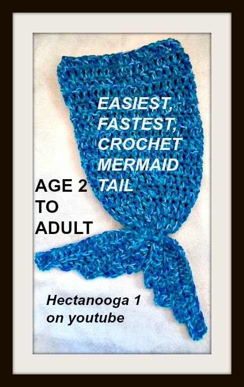 EASIEST, FASTEST, CROCHET MERMAID tail or blanket.. watch the video, and get the FREE PDF DOWNLOAD PATTERN, to make all sizes from 2 years to adult large.  If you can crochet a hat, you can crochet this VERY EASY mermaid tail!!  https://www.youtube.com/watch?v=ywu5TLxVM4s