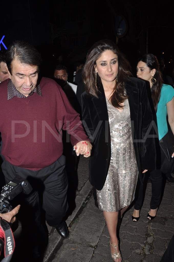 Kareena, Karisma, Saif at Randhir Kapoor's birthday dinner