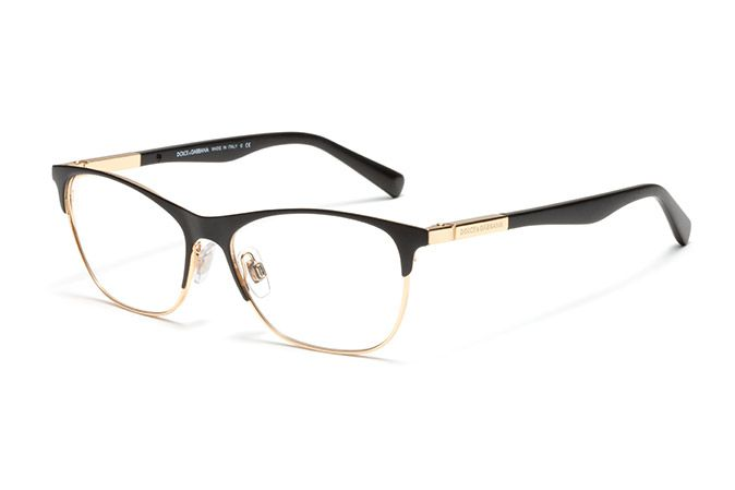 Women's black metal and acetate eyeglasses with squared frame by Dolce & Gabbana dg-1246 | Eyewear Dolce & Gabbana