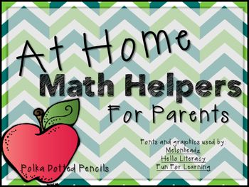 Math Helper Handouts for Parents.  I find so many for reading, but these are perfect for MATH!