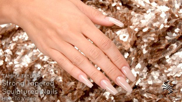How To | Strong Tapered Sculptured Nails | Tammy Taylor