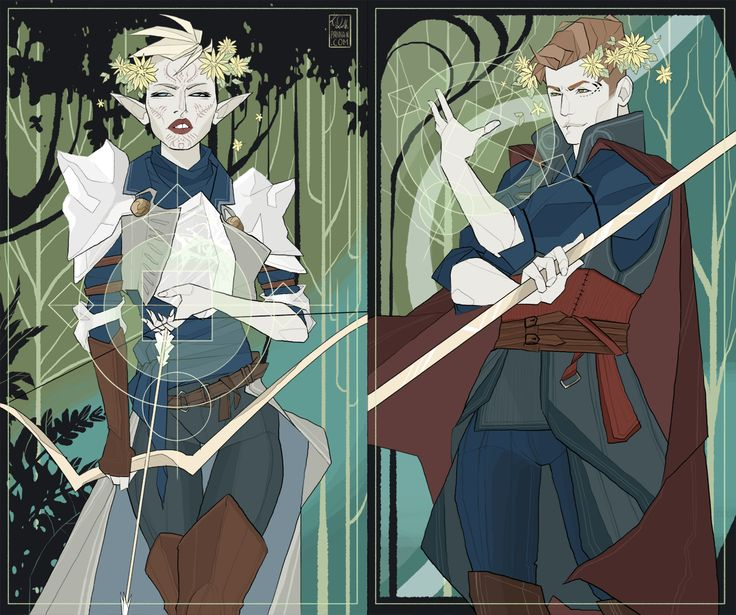 "pannan-art: "" Mine and @aiwa-sensei Inquisitors from Dragon Age. Oh god, I love this game. """