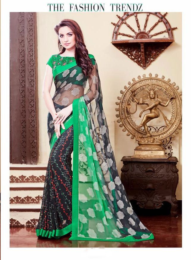 Designer Indian Pakistani Partywear Sari Ethnic Bollywood Wedding Saree Dress  #KriyaCreation #DesignerSaree