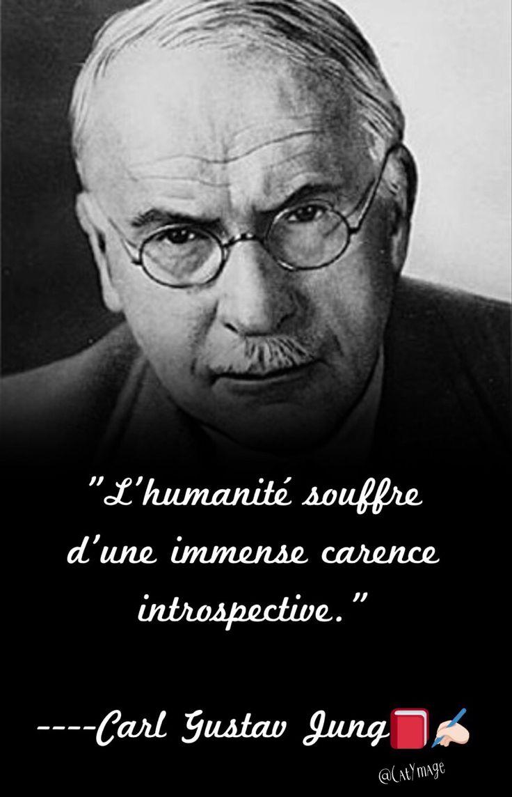 """""""L'humanité souffre d'une immense carence introspective."""" Carl Gustav Jung📕✍🏻"""