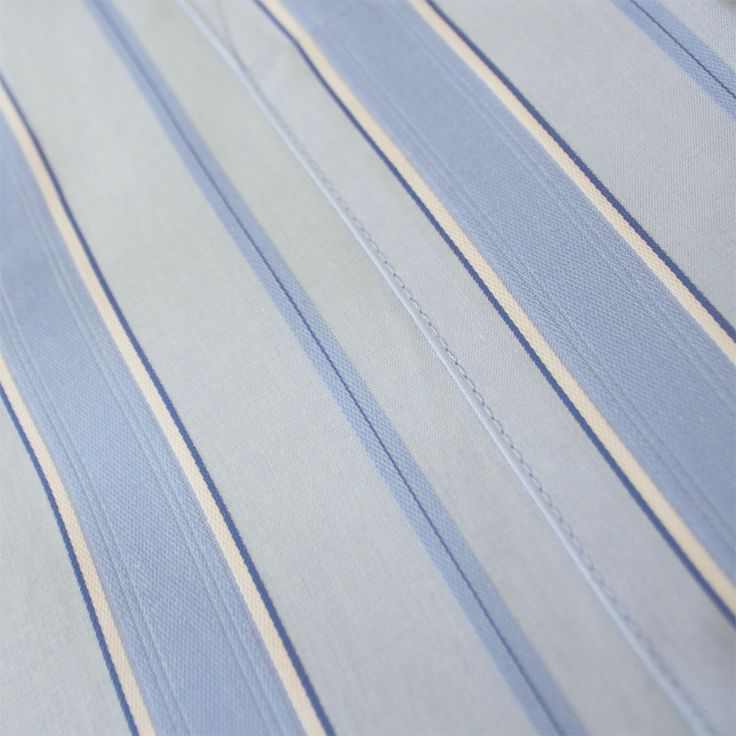 Contare Sky Blue Satin Stripe Weave