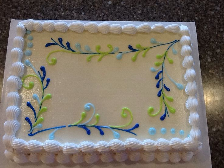 Cake Decoration Sheet : 289 best Cakes - sheet cakes images on Pinterest Sheet ...