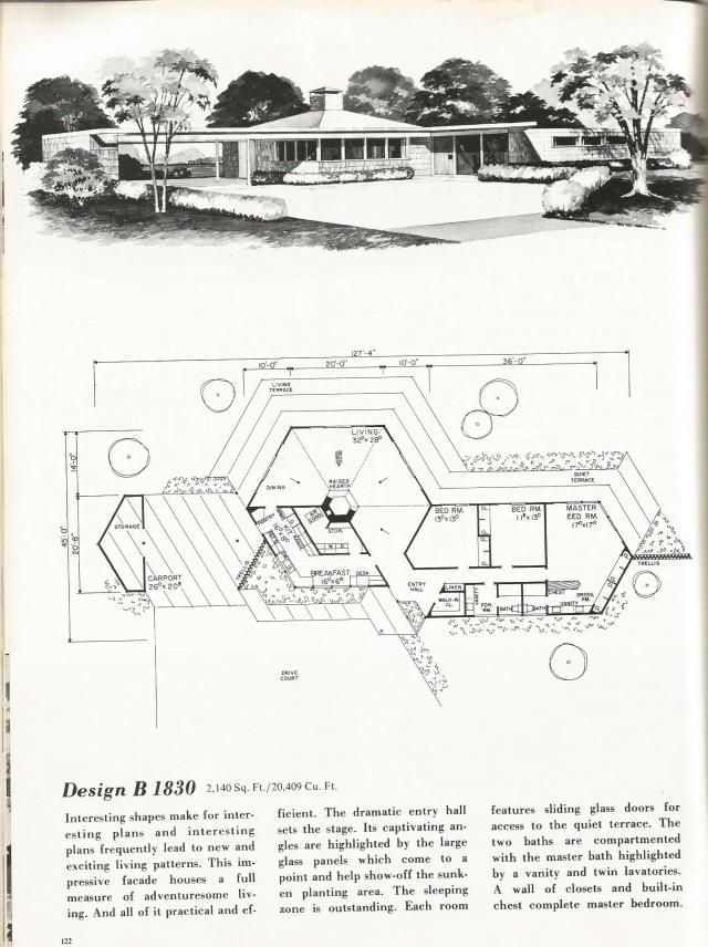 1000 images about vintage house plans 1970s on pinterest for 1970s house floor plans